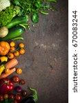 organic farmer vegetables  at... | Shutterstock . vector #670083244