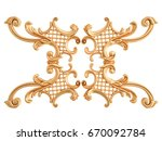 gold ornament on a white...   Shutterstock . vector #670092784