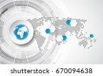 vector digital global...   Shutterstock .eps vector #670094638