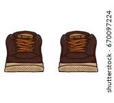 vector cartoon illustration  ... | Shutterstock .eps vector #670097224