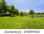 beautiful city park in tainan ... | Shutterstock . vector #670099534