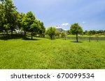 beautiful city park in tainan ... | Shutterstock . vector #670099534