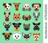 set of vector cartoon different ... | Shutterstock .eps vector #670100203