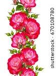 vertical floral border.... | Shutterstock . vector #670108780