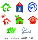 Real estate symbols for design isolated on white - also as emblem or logo template. Jpeg version also available in gallery