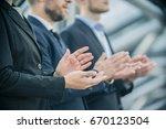 close up of businessmen... | Shutterstock . vector #670123504