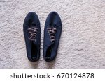 Navy Blue Color Men Shoe On...