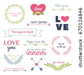 valentine s day design elements ...