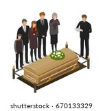 funeral ritual  mourning... | Shutterstock .eps vector #670133329