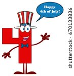 red number four cartoon mascot... | Shutterstock .eps vector #670133836
