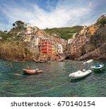 a charming summer rich ... | Shutterstock . vector #670140154