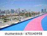 cruise ship open deck | Shutterstock . vector #670140958