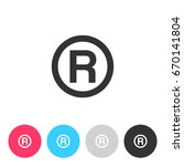r   registered trademark symbol ... | Shutterstock .eps vector #670141804