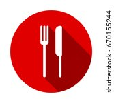 food icon isolated on red... | Shutterstock .eps vector #670155244