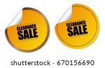 clearance sale stickers | Shutterstock .eps vector #670156690