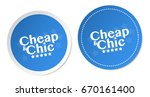 cheap   chic stickers | Shutterstock .eps vector #670161400