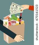 paper shopping bag full of... | Shutterstock .eps vector #670161523