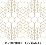 geometric hexagon and triangle... | Shutterstock .eps vector #670162168