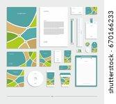 corporate identity  stationery... | Shutterstock .eps vector #670166233