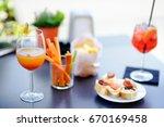 italian aperitives aperitif ... | Shutterstock . vector #670169458