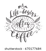 quote for coffee . hand drawn... | Shutterstock . vector #670177684