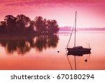 Little Sailing Boat Reflects I...