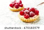 mini tarts with mascarpone... | Shutterstock . vector #670183579