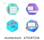 material design icons set for... | Shutterstock .eps vector #670187236