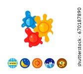 colorful paintball balls vector ...   Shutterstock .eps vector #670187890