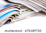 close up image of magazines... | Shutterstock . vector #670189720