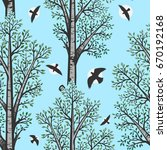 vector color birch seamless...   Shutterstock .eps vector #670192168