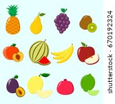 fruit juicy and ripe collected... | Shutterstock .eps vector #670192324