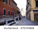 venice  italy  11 january  2017 ... | Shutterstock . vector #670194868
