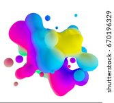 3d Rendering Moving Colorful...