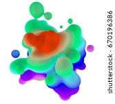 abstract 3d rendering colored... | Shutterstock . vector #670196386