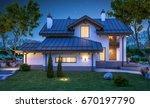 3d rendering of modern cozy... | Shutterstock . vector #670197790