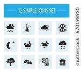set of 12 editable air icons....