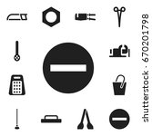 set of 12 editable tools icons. ...