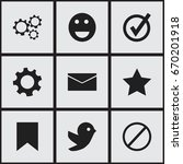 set of 9 editable web icons....