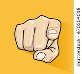 male hand pointing finger at... | Shutterstock .eps vector #670204018