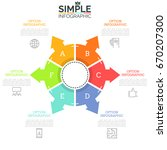 round diagram diagram divided... | Shutterstock .eps vector #670207300