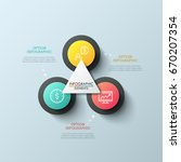 diagram with 3 round elements ... | Shutterstock .eps vector #670207354