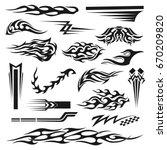 vinyl art decoration stickers... | Shutterstock .eps vector #670209820