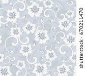 seamless damask pattern.... | Shutterstock .eps vector #670211470