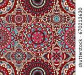 patchwork pattern. vintage...   Shutterstock .eps vector #670213630