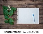 a sheet of thick white paper... | Shutterstock . vector #670216048