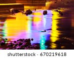reflection of light in the... | Shutterstock . vector #670219618