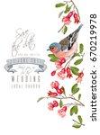 vector wedding vertical border... | Shutterstock .eps vector #670219978