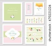wedding or birthday card... | Shutterstock .eps vector #670221226
