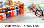 colorful back to school... | Shutterstock . vector #670221238